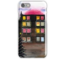 Building with Christmas Lights iPhone Case/Skin