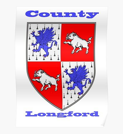 County Longford Coat of Arms Poster