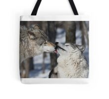 Timber Wolves in love Tote Bag
