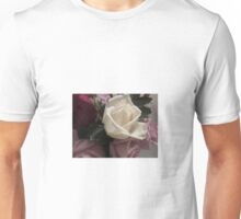 White Red and Purple Roses Unisex T-Shirt