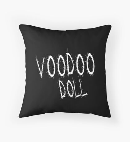 Voodoo Doll. Throw Pillow
