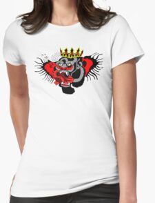 Chest tattoo on black Womens Fitted T-Shirt