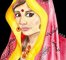 Bengali Princess Portrait by Almonda