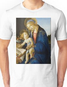 Botticelli  - The Virgin and Child The Madonna of the Book 1480 Woman Portrait  Unisex T-Shirt