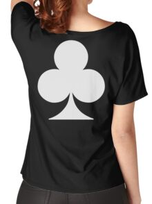 ACE, WHITE, Ace of Clubs, CLUB, Cards, Game, Suit, gangs, Gamble Women's Relaxed Fit T-Shirt