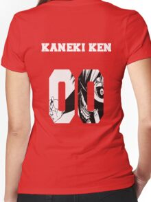 Kaneki Ken Tokyo Ghoul Women's Fitted V-Neck T-Shirt