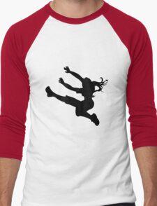 Sportswoman silhouette Men's Baseball ¾ T-Shirt