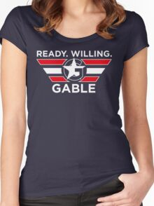 Ready. Willing. GABLE. Women's Fitted Scoop T-Shirt