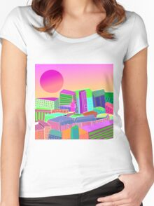 bubblegum utopia  Women's Fitted Scoop T-Shirt