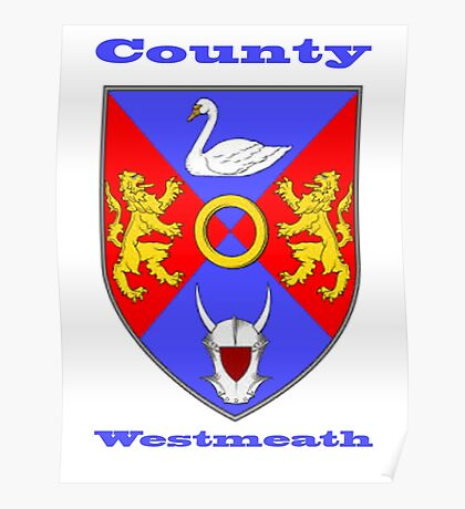 County Westmeath  Coat of Arms Poster
