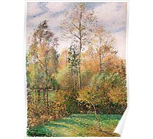 Camille Pissarro - Automne, Peupliers, Eragny Autumn, Poplars  French Impressionism Landscape Poster