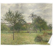 Camille Pissarro - Autumn, Morning, Cloudy, Eragny 1900 French Impressionism Landscape Poster