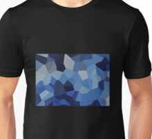 Large Blue Crystals Unisex T-Shirt