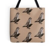 Standing Bird: Thrush: Charcoal Drawing, Wildlife Art Tote Bag