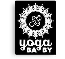 Yoga Baby Canvas Print