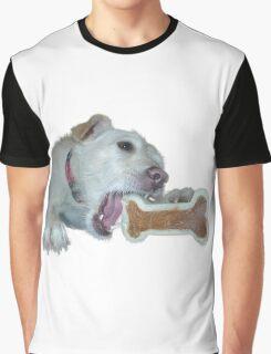 cute dog enjoys its bone Graphic T-Shirt