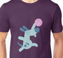 Puppy playing basketball Unisex T-Shirt