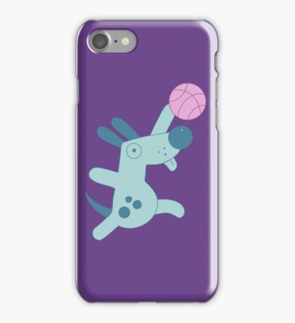 Puppy playing basketball iPhone Case/Skin