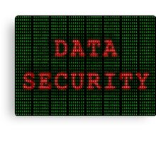 Data Security in Binary Green and Red Canvas Print