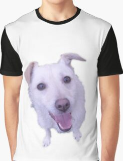 cute white dog looking up Graphic T-Shirt