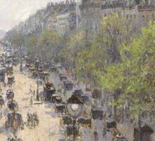 Camille Pissarro - Boulevard Montmartre, Spring 1897 French Impressionism Landscape Sticker