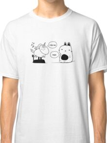 The Cat and The Unicorn Print Classic T-Shirt