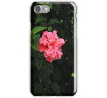Pink Hibiscus in a Bush iPhone Case/Skin