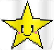 Pixel Art Star Poster