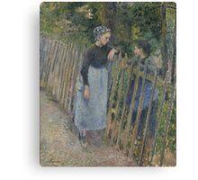 Camille Pissarro - Conversation  1881 French Impressionism Landscape Canvas Print