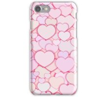Seamless stylish Valentine's Day pattern with hearts.  iPhone Case/Skin