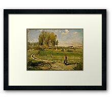 Camille Pissarro - Giverny French Impressionism Landscape Framed Print