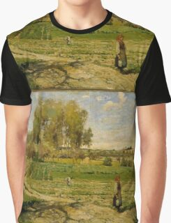 Camille Pissarro - Giverny French Impressionism Landscape Graphic T-Shirt