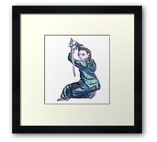Martial Arts Lady 3 Framed Print