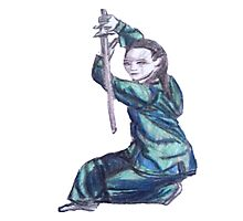 Martial Arts Lady 3 Photographic Print