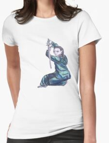 Martial Arts Lady 3 Womens Fitted T-Shirt
