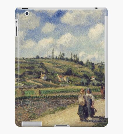 Camille Pissarro - Landscape near Pontoise, the Auvers Road, French Impressionism Landscape iPad Case/Skin