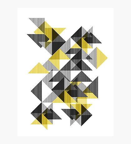 yellow triangle /Agat/ Photographic Print
