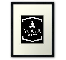 Yoga Crew Framed Print