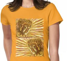 Golden Radiant Buddha Womens Fitted T-Shirt