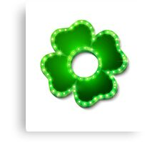Shine lucky clover with shadow Canvas Print