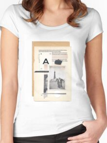 A tenuous affair of emotional solitude Women's Fitted Scoop T-Shirt