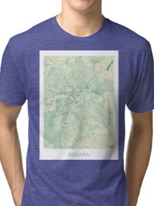 Ankara  Map Blue Vintage Tri-blend T-Shirt