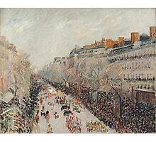 Camille Pissarro - Mardi Gras on the Boulevards 1897  French Impressionism Landscape Photographic Print