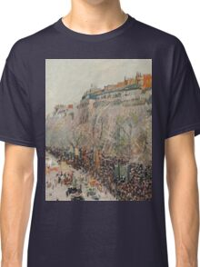 Camille Pissarro - Mardi Gras on the Boulevards 1897  French Impressionism Landscape Classic T-Shirt