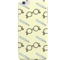 Vintage Glasses and Pen Pattern iPhone Case/Skin