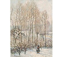 Camille Pissarro - Morning Sunlight on the Snow, Eragny-sur-Epte 1895  French Impressionism Landscape Photographic Print