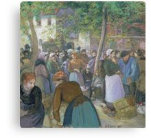 Camille Pissarro - Poultry Market at Gisors 1885 French Impressionism Landscape Canvas Print