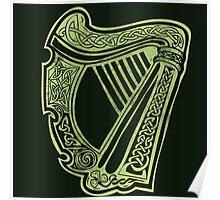 Celtic Harp Poster