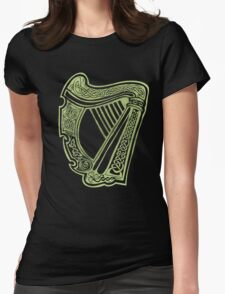 Celtic Harp Womens Fitted T-Shirt