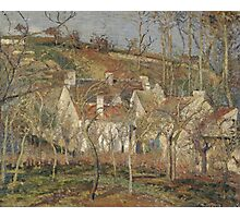 Camille Pissarro - Red roofs, corner of a village, winter 1877 French Impressionism Landscape Photographic Print